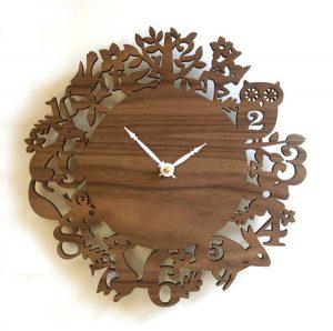Đồng hồ gỗ khắc CNC