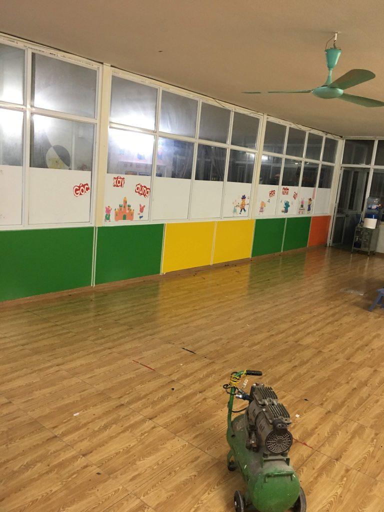 Sàn gỗ phòng học